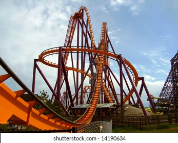 a steel roller coaster
