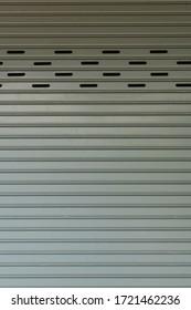steel roller shutter door closed security background