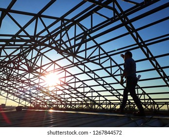Steel roof structure with structural inspection engineer