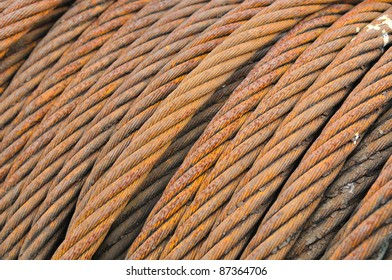 Steel rope close-up square background texture