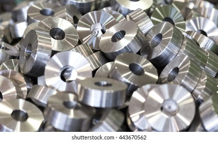 Steel round parts - bushings, rollers, rollers. All the details are the same.