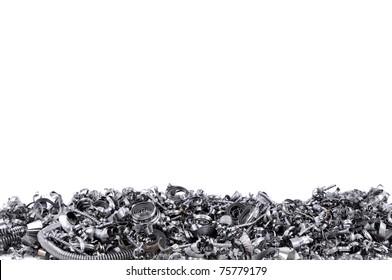 Steel shavings from CNC.