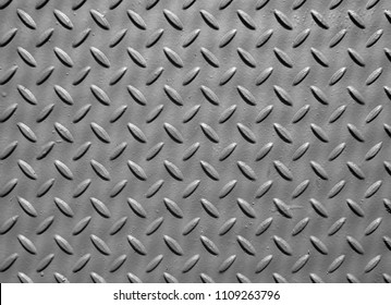 steel sheet metal plate with embossed diamond pattern used for flooring and industrial construction