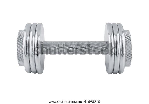 steel sport equipment, isolated on white