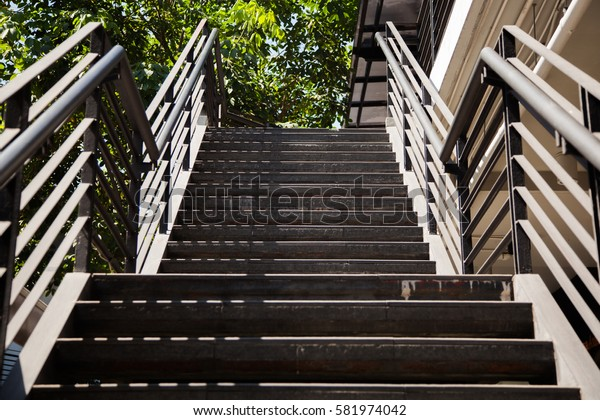steel stair modern out door style