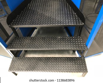 Steel staircase in the industry