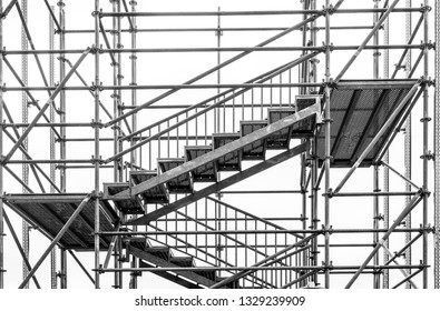 Steel staircase and scaffold