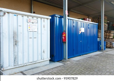 steel storage containers for toxic materials