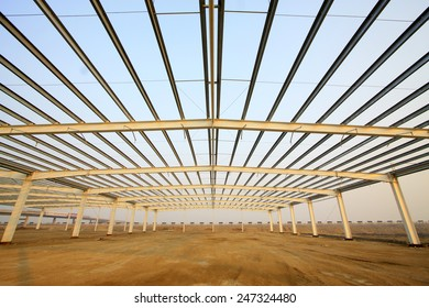 steel structure landscape in a factory