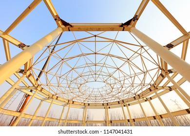 steel structure on a construction site