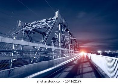 Steel structure of railway bridge