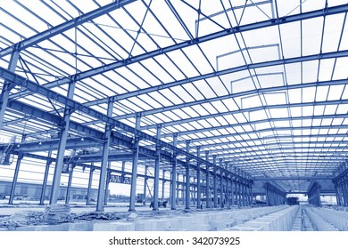 Steel structure workshop is under construction