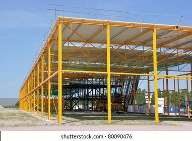 Steel structured building