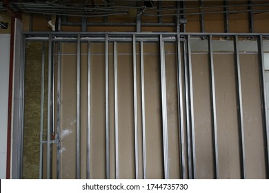 steel stud framing and plaster wall system
