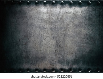 Steel texture, dark metal background