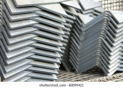 steel texture pattern, rack pile edges