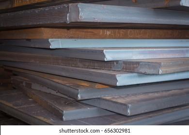 Steel texture, Steel stack, Steel industry background.