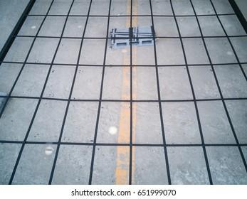 steel tie  on the floor