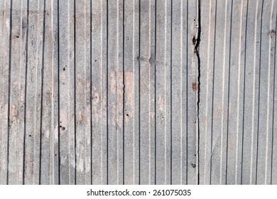 Steel trapezoid sheet galvanized dameged