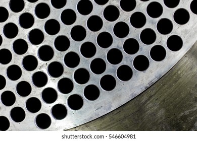 steel tubes of the heat exchanger, the water heater in the boiler as background at fabrication industrial
