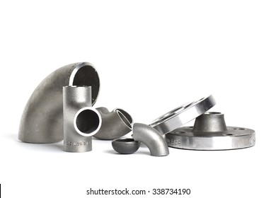 Steel welding fittings and connectors. Bow, flanges and tee.