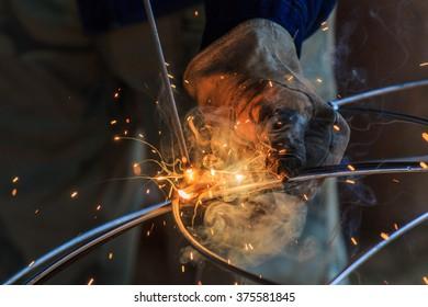 Steel welding, welding, welding machine
