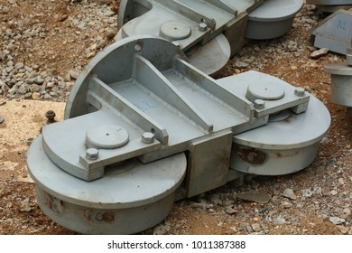 Steel wheel : Components of the large electrial transformer