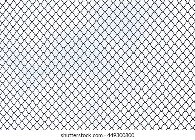 Steel wire mesh on white background isolated.