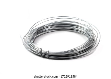Steel wire reel for home appliance with white background.
