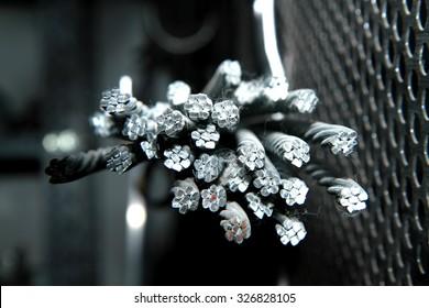 Steel wire texture