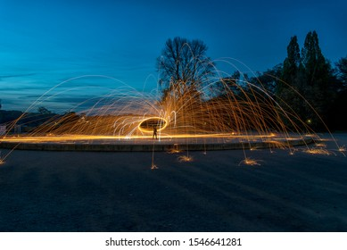 Steel wool Firework - Fun with fire and burning steel