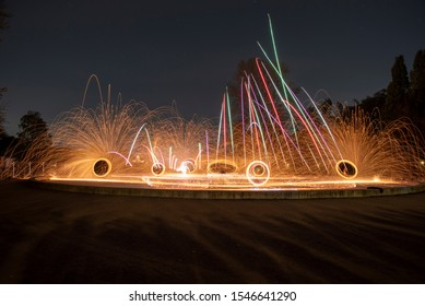 Steel wool Firework - Fun with fire and burning steel