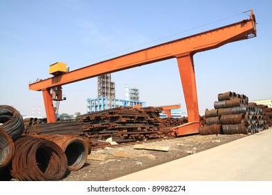 Steel-making plant steel warehouse