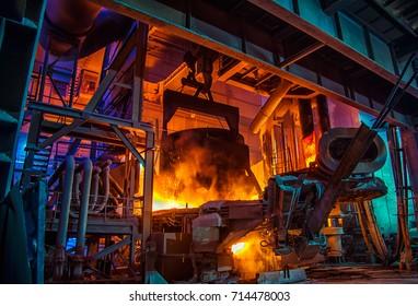 Steel-making workshop