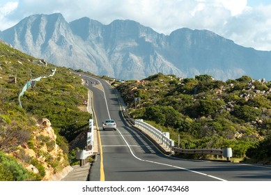 Steenbras, near Gordons Bay, Western cape, South Africa. December 2019. Clarence Drive a picturesque drive over Steenbras Bridge on the R44 highway towards Hermanus, South Africa