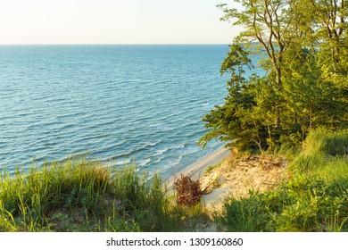 Steep Baltic Sea coast