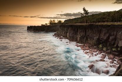 Steep Cliffs at the Coast of La Reunion (Cap Mechant), France