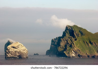 Steep cliffs of the St Kilda archipelago