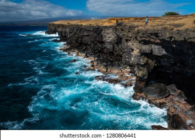 Steep coast of the southernmost point of the USA, Big Island, Hawaii