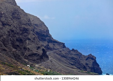 Steep coast with steep winding road