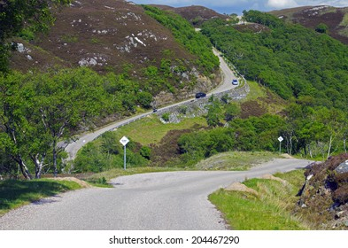 Steep Coastal Road north of Ullapool, Scotland
