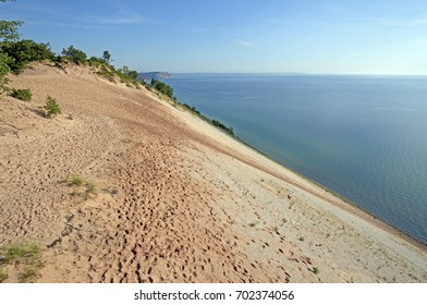 Steep Dunes on a Remote Lakeshore in Sleeping Bear Dunes National Lakeshore in MIchigan