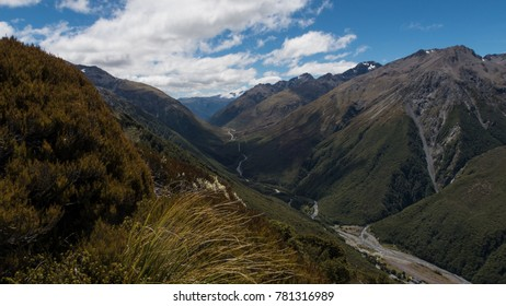 Steep gorges of Arthurs Pass New Zealand