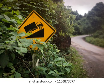 Steep Hill Ascent in countryside,Meahongson,Thailand