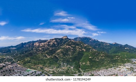 The steep and steep, layered mountains of Mount Tai and Aofeng