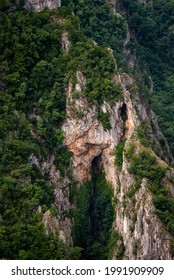 Steep rocky cliffs of Lazar's Canyon (Lazarev kanjon), the deepest and longest canyon in eastern Serbia, near the city of Bor - Shutterstock ID 1991909909