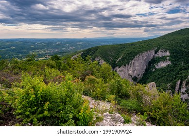 Steep rocky cliffs of Lazar's Canyon (Lazarev kanjon), the deepest and longest canyon in eastern Serbia, near the city of Bor - Shutterstock ID 1991909924