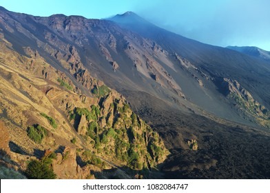 steep slope of Bove Valley and Etna South-east Crater, Sicily