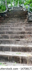Steep stairs used to walk up and down the hill