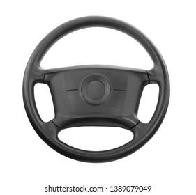steering wheel car black leather